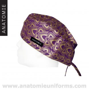 Surgical Caps  ANATOMIE Purple Gold Pyramids ANA044