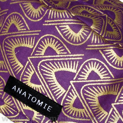 Surgical Caps ANATOMIE Purple Gold Pyramids ANA044 b