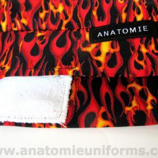 ANATOMIE BANDANA Cirugias Tela Llamas - 017c