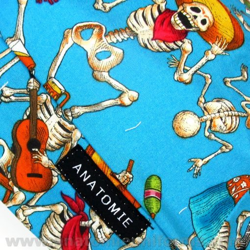 ANATOMIE BANDANA OR Surgery Day of the Dead Blue - 020
