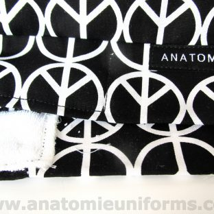 ANATOMIE BANDANA Quirofano Tela Peace Love - 016c