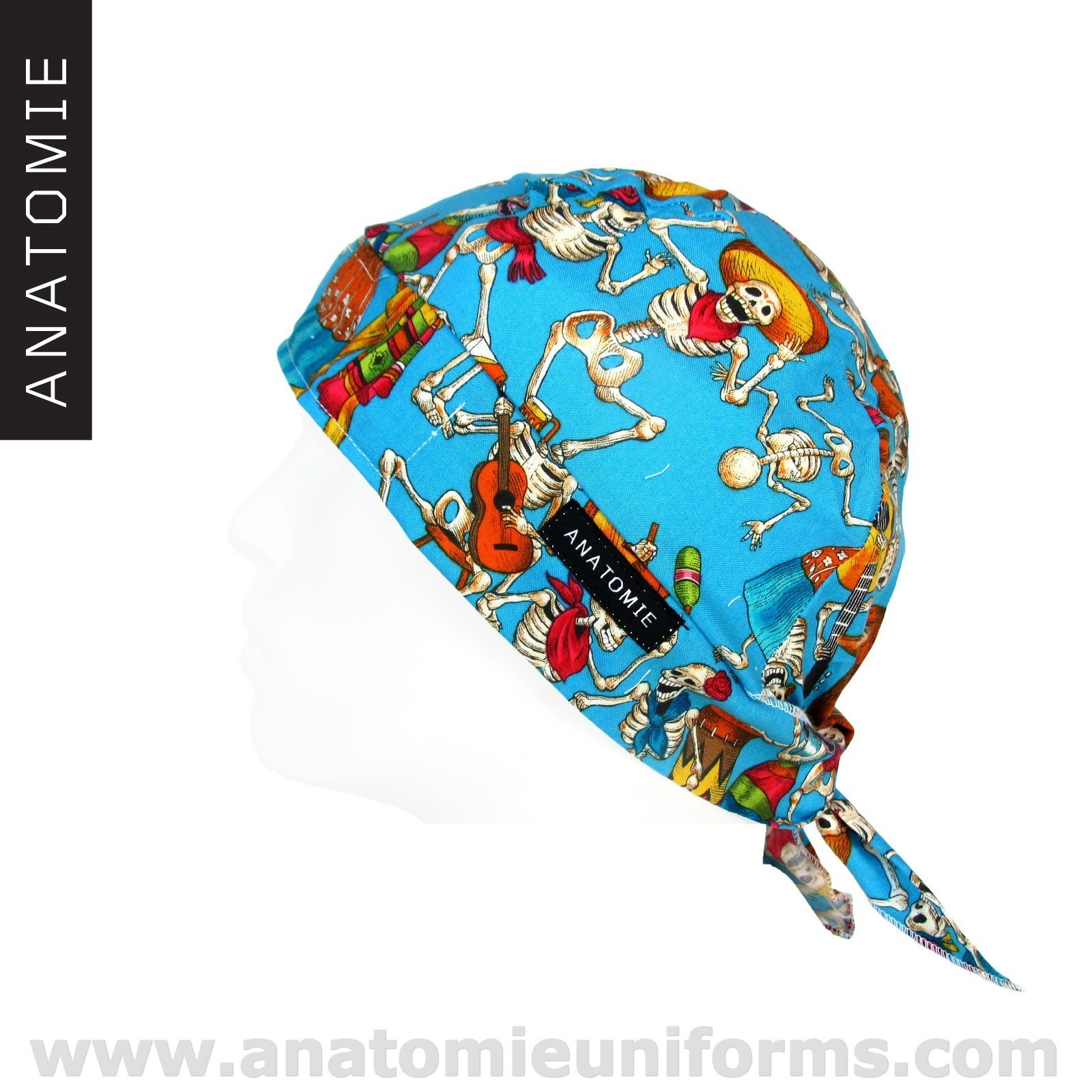 ANATOMIE BANDANA Surgery Day of the Dead Blue - 020