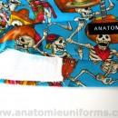 ANATOMIE BANDANA de Quirofano Dia de los Muertos – 020c