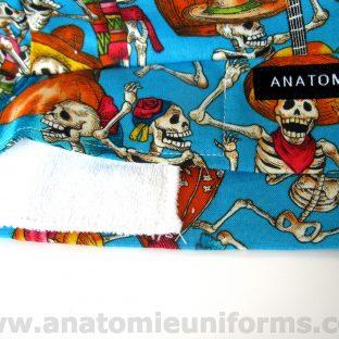 ANATOMIE BANDANA de Quirofano Dia de los Muertos - 020c