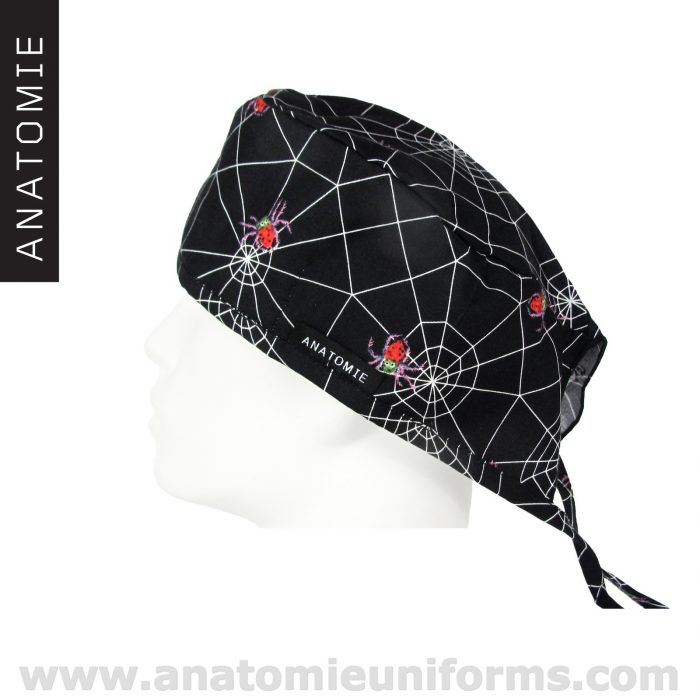 Black Surgical Caps Spiders and spiders webs – ANA056