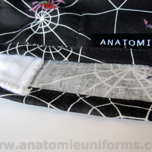 Black Surgical Caps for doctors Spiders and spiders webs - ANA056