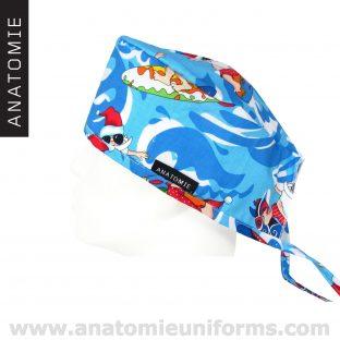 Blue Surgical Caps Santa Claus - ANA053