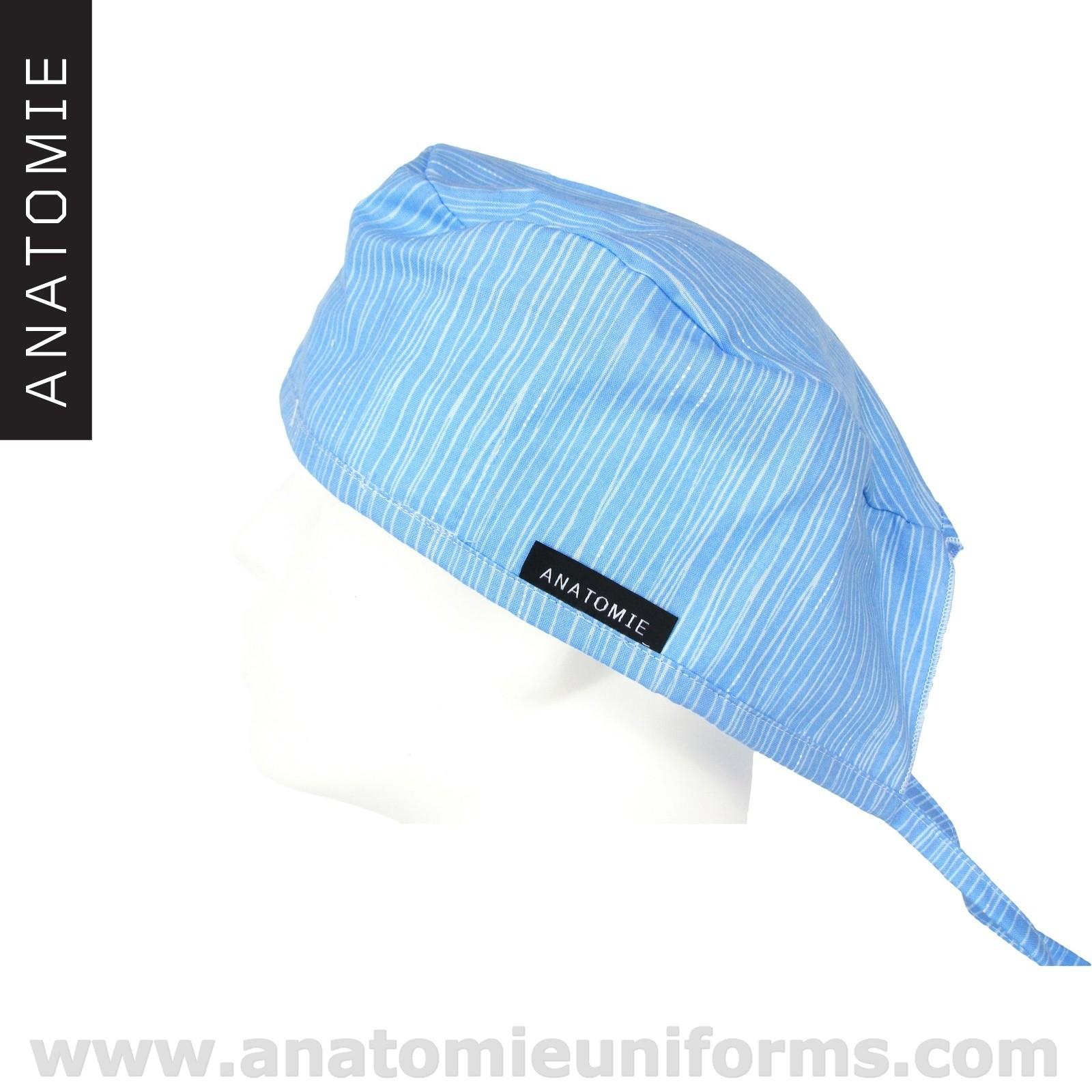 Gorros Quirofano Lineas Azules ANA055