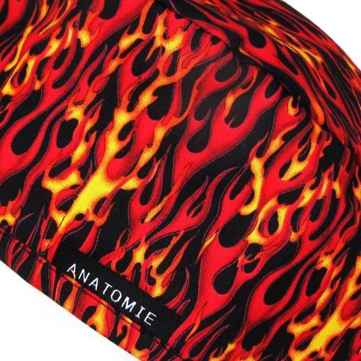 Gorros para Cirugía Llamas Rojas Amarillas ANA060