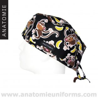 Surgical Caps ANATOMIE Man Monkey Bananas - ANA047