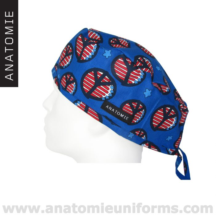 Surgical Caps ANATOMIE Peace Symbol American Flag – ANA048