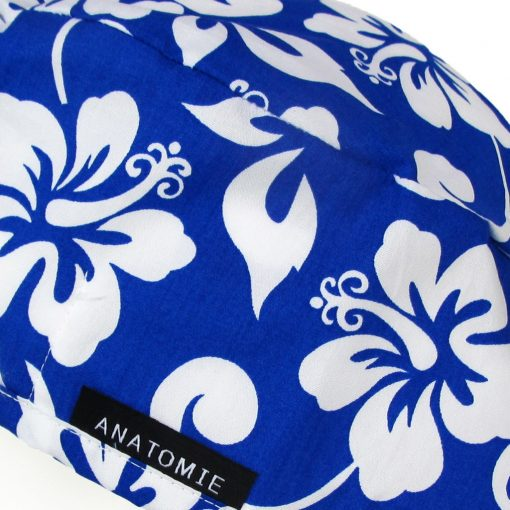 Surgical Caps Blue Hawaiian Flowers - ANA054