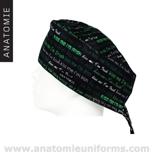 Surgical Caps for men Kiss Me Im Irish - ANA051