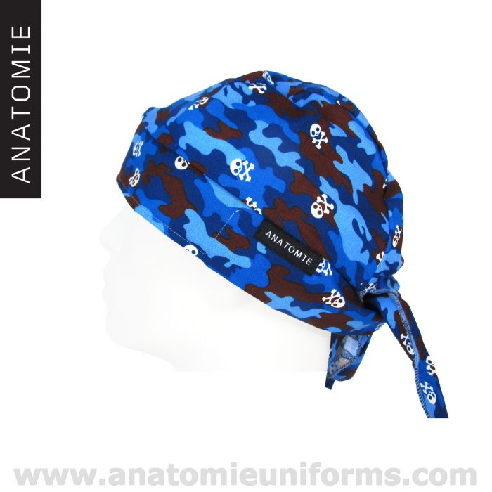 ANATOMIE BANDANA Chirurgien Bleu Camouflage – 019