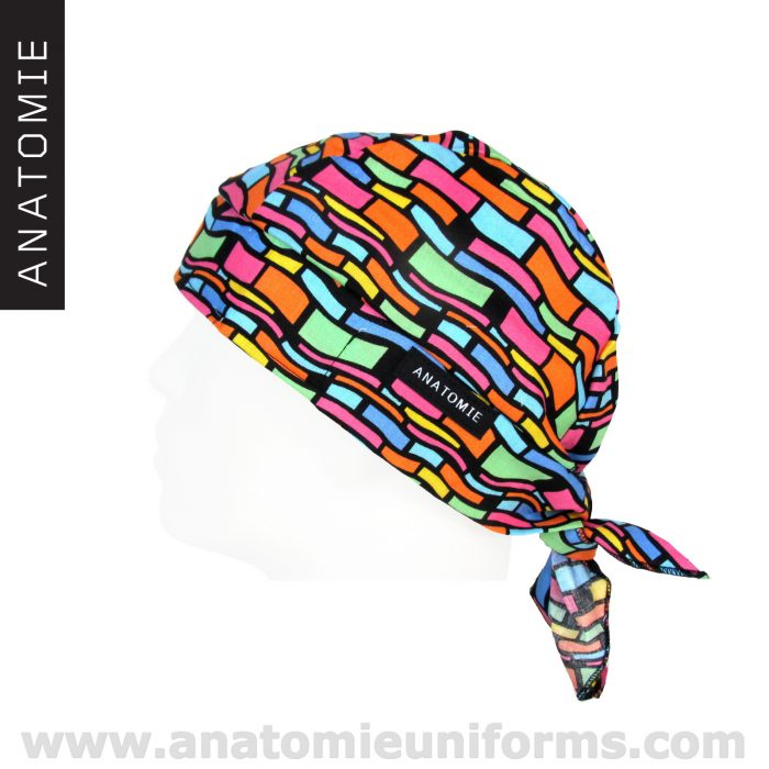 ANATOMIE BANDANA Surgery Fun Colourful  – 018