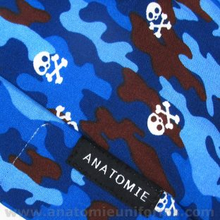 ANATOMIE BANDANA for Operating Room Blue Camouflage - 019d