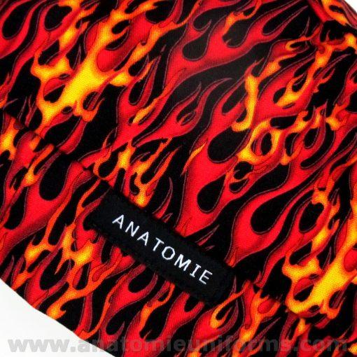 ANATOMIE BANDANA para chirurgien flammes - 017d