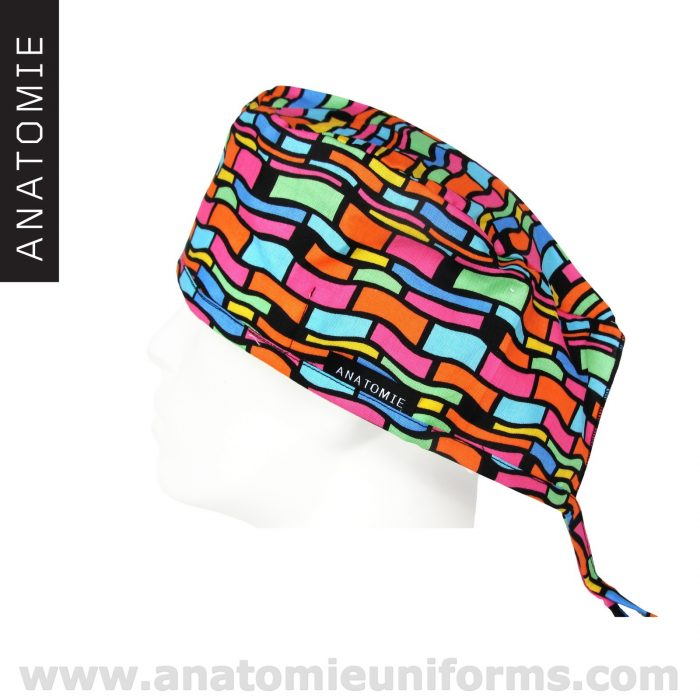 Surgical Caps Colourful Abstract Design – ANA062