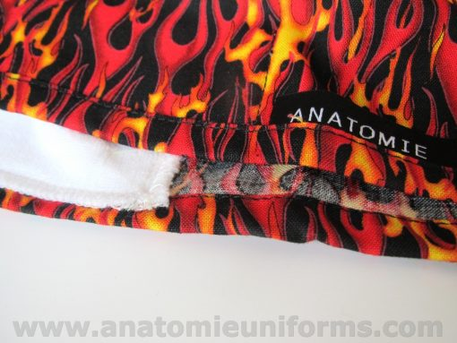 Surgical Caps Surgeons Red Yellow Flmaes - ANA060