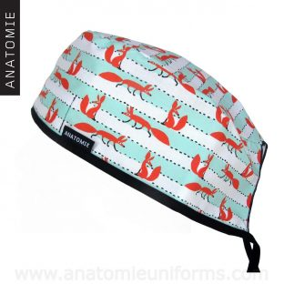 Surgical Caps Foxes Striped - 0101